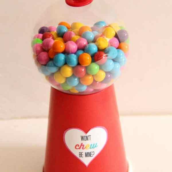 DIY Gumball Valentines + Free Printable