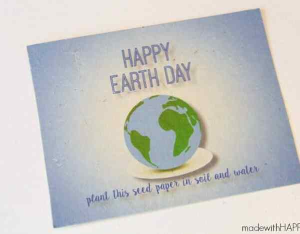 Seed Paper Earth Day Postcard for MyPrintly.com