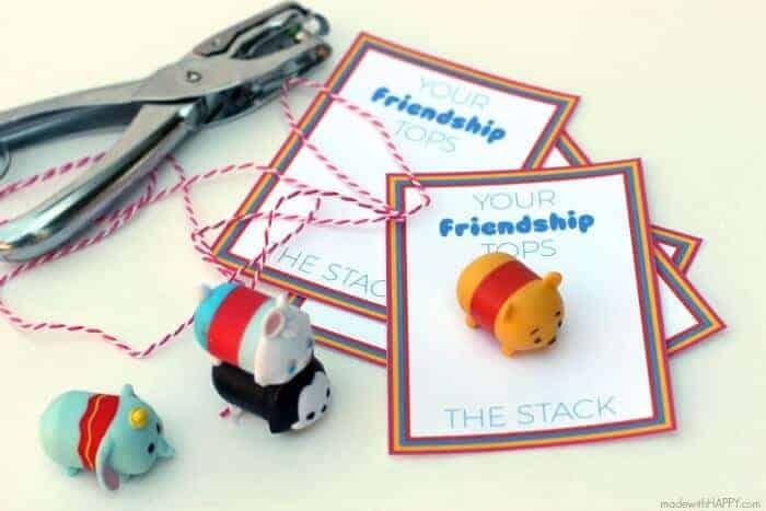 Tsum Tsum Printable Valentines   Free Printable Valentines   Disney Tsum-Tsum Stackable Valentines   www.madewithHAPPY.com