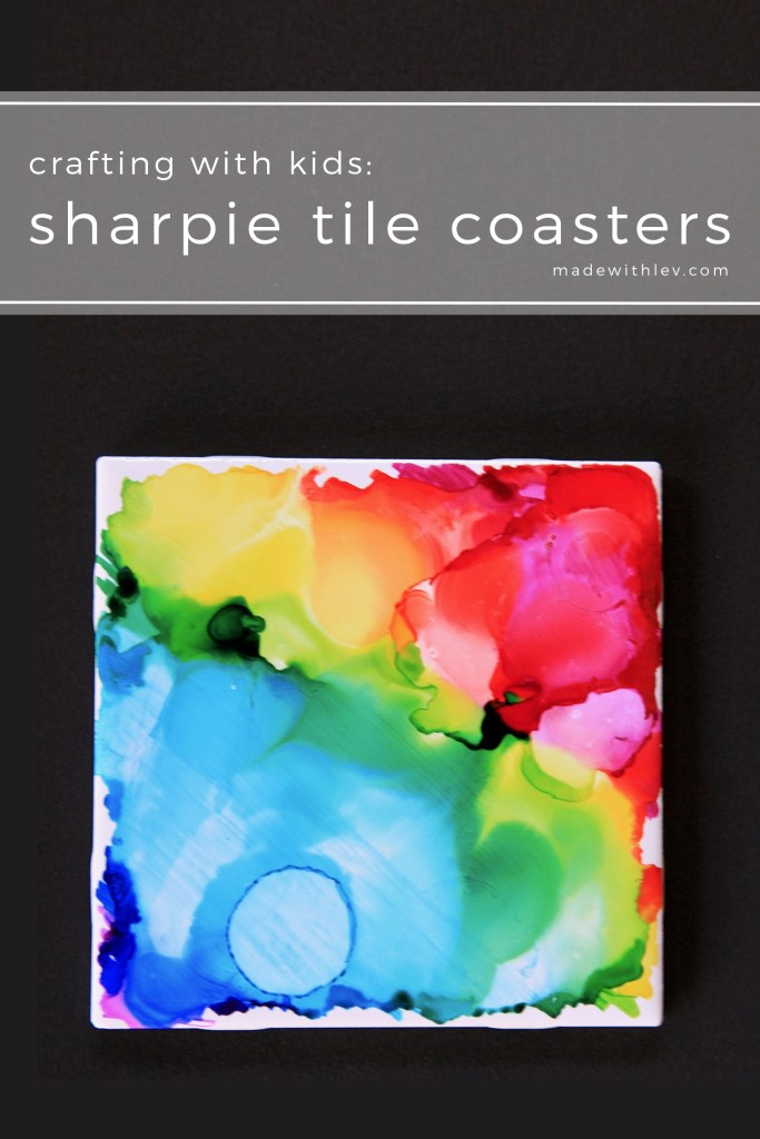 Sharpie Tile Coasters | #diycraft #craftideas #kidscraft #sharpiecrafts #sharpies #diycoasters #coasters #housewares #familycraft #craftproject #craftutorial