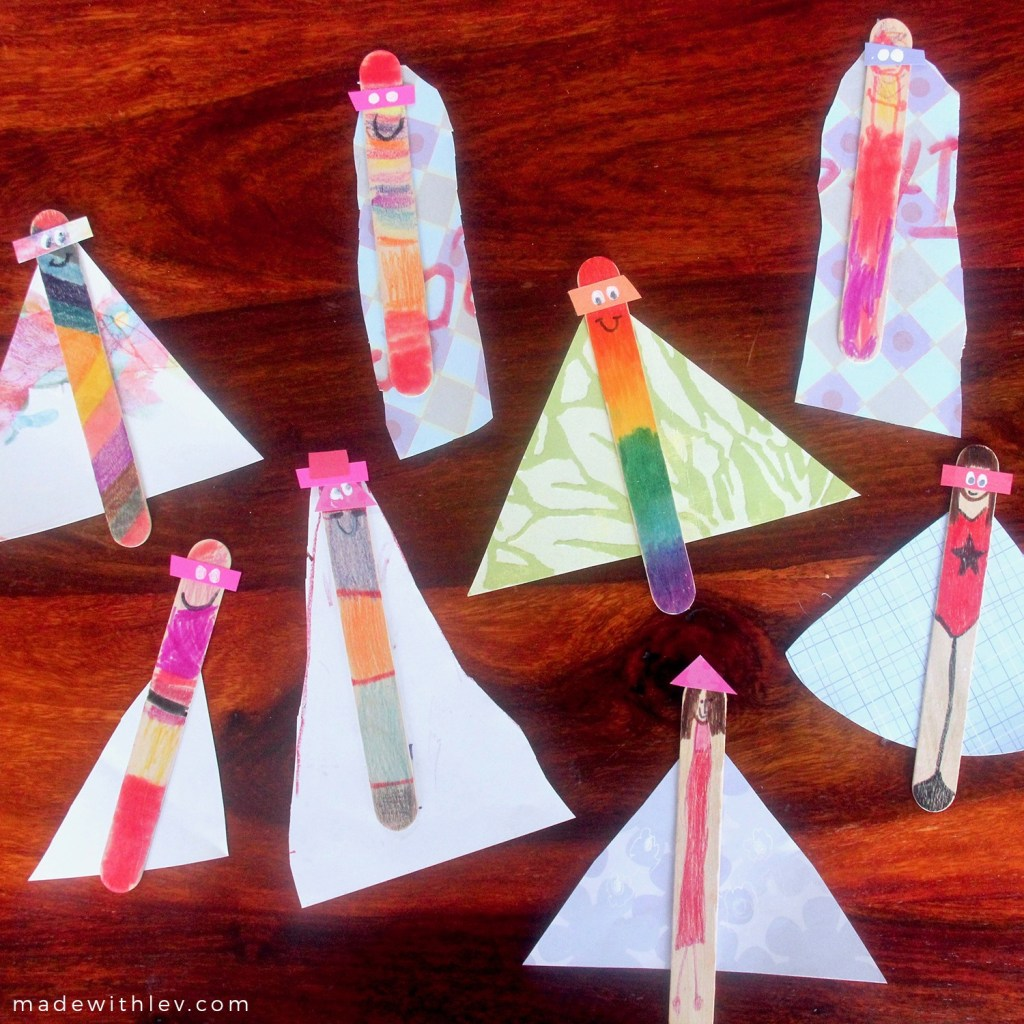 Popsicle Stick Superheroes: a fun DIY craft for kids of all ages. #craftingwithkids #kidscrafts #craftproject #familycrafts #superheroes #popsiclestickcraft #popsiclesticks