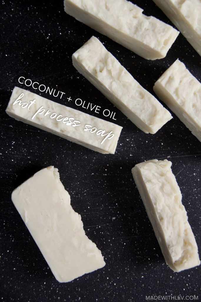 Coconut + Olive Oil Hot Process Soap