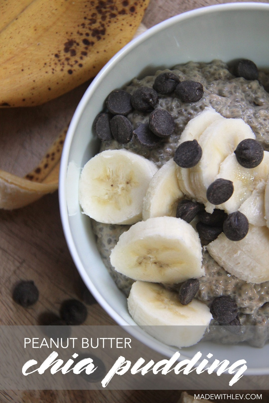 Peanut Butter Chia Pudding // Satisfy those sweet cravings with this deliciously sweet and satisfying peanut butter chia pudding. Eat it for breakfast, grab it and go for a healthy snack, or savor it for dessert. It's sure to please whichever way you choose. #glutenfree #dairyfree #chiapudding