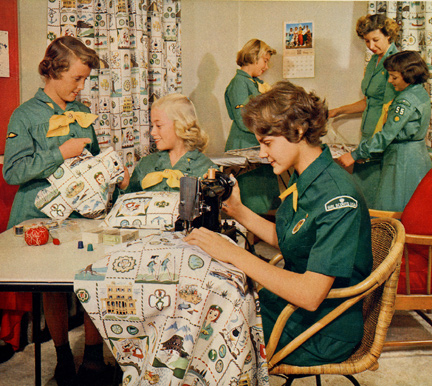 Girl Scouts Sewing