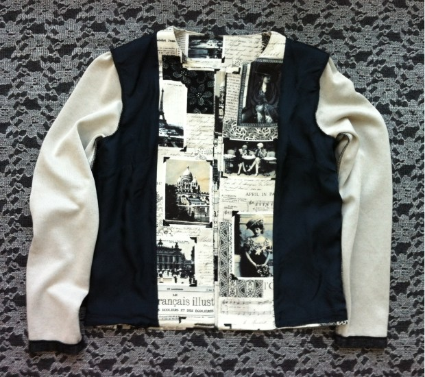 Mad For Fabric DIY Quilting Cotton Jacket -  Inside Out View