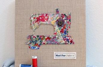 Mad For Fabric - Liberty Fabric Scrap Art Display