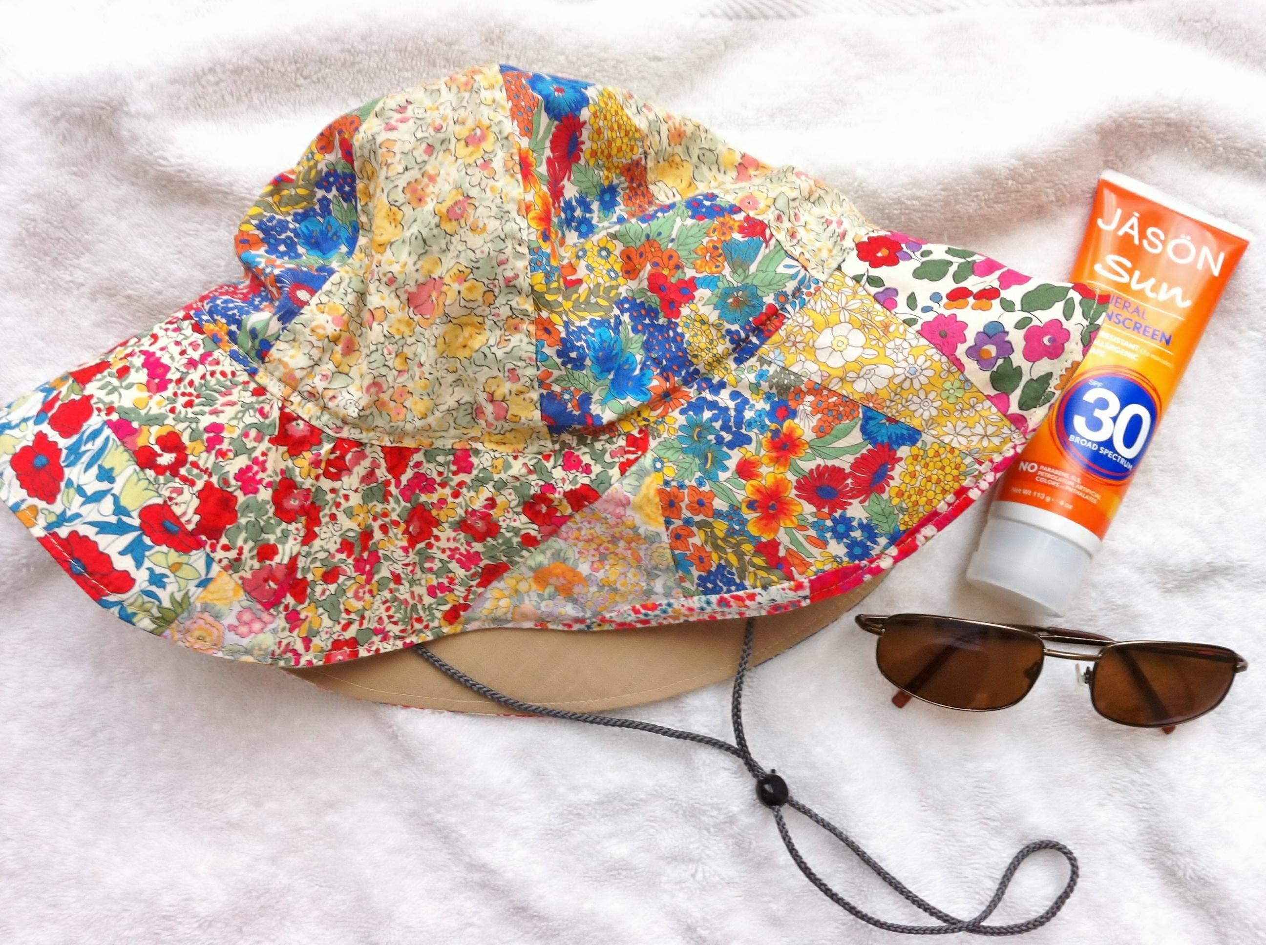b9fe2d29314 Liberty Fabric Scrap Sun Hat - Mad For Fabric