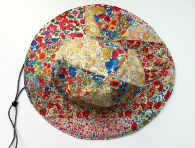 Liberty Fabric Scrap Sun Hat Top View