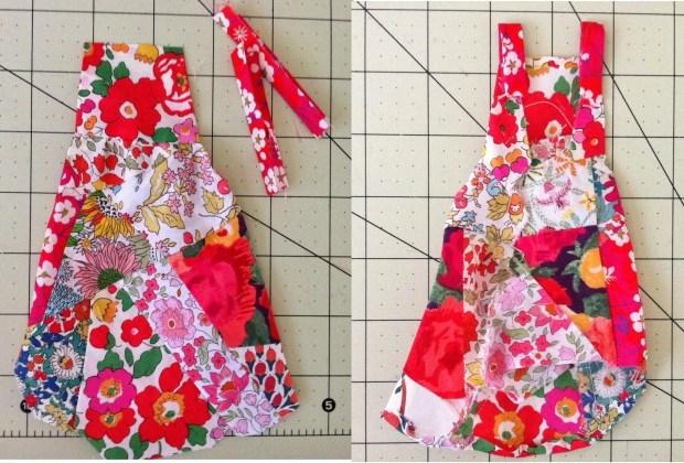 iberty Fabric Scrap Art Dress Front and Back Views