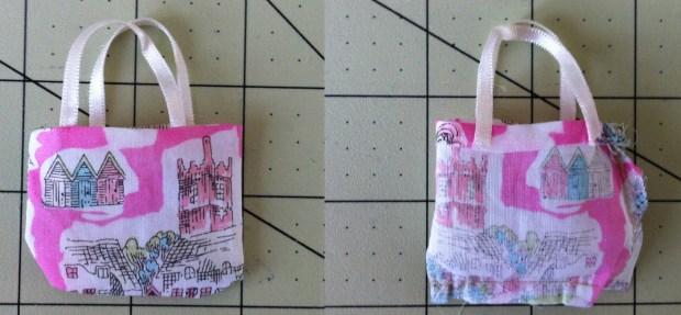 Miniature Liberty Fabric Tote Bag