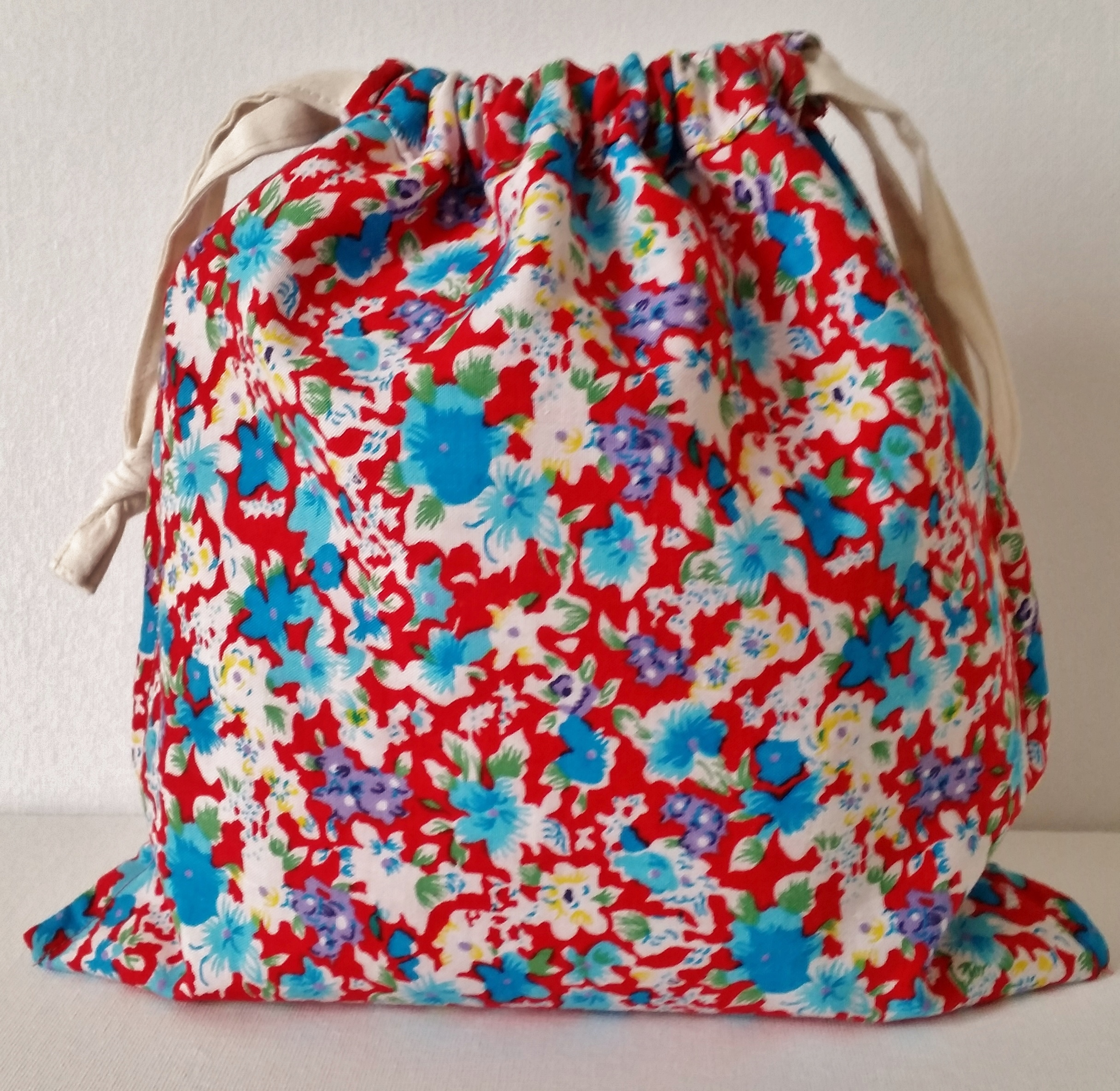 Liberty Applique Drawstring Gift Bag | Mad For Fabric