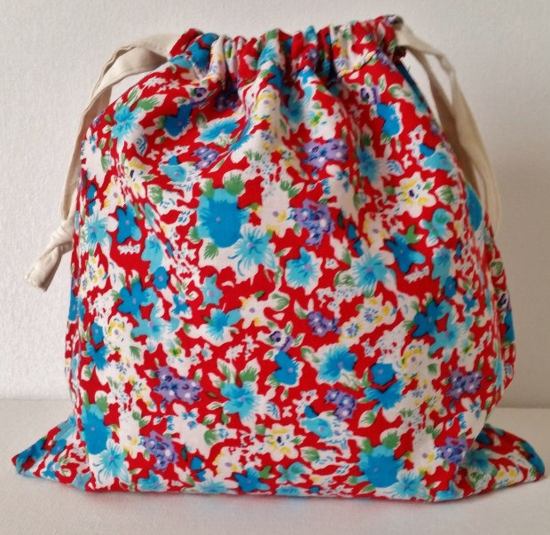 Mad For Fabric - Liberty Applique Drawstring Bag Reverse View
