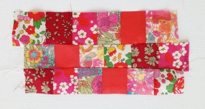 Mad For Fabric - Liberty 1.25in strips Sewn Stagger Join Lines