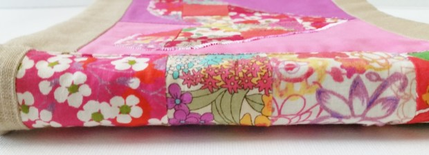 Mad For Fabric - DIY Liberty Fabric Book Side View of Binding