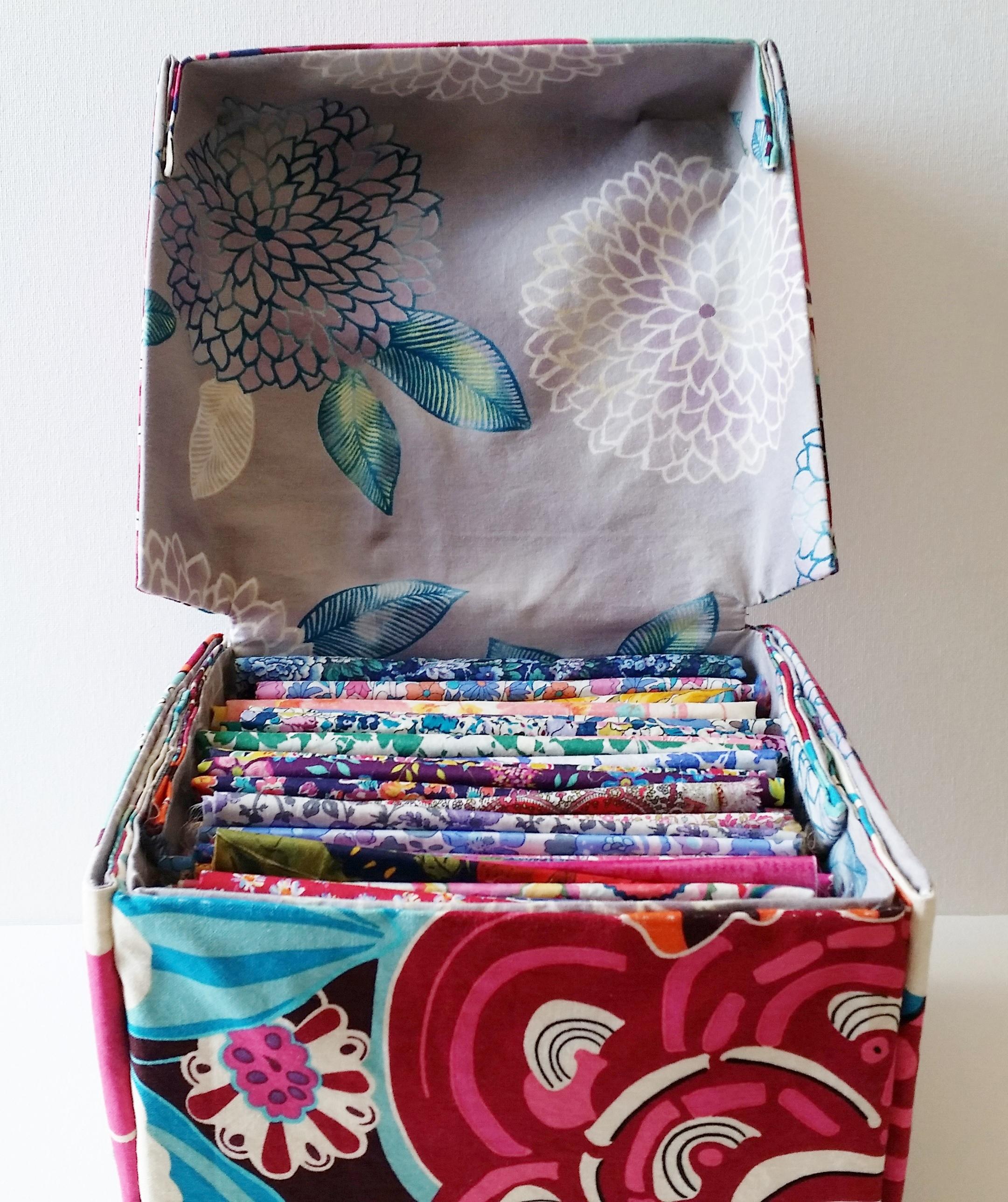 Diy Fabric Box With Lid Tutorial