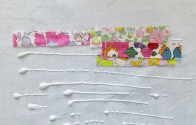 Mad For Fabric - Laminate Scrap Pouch Glue Pieces To Broadcloth