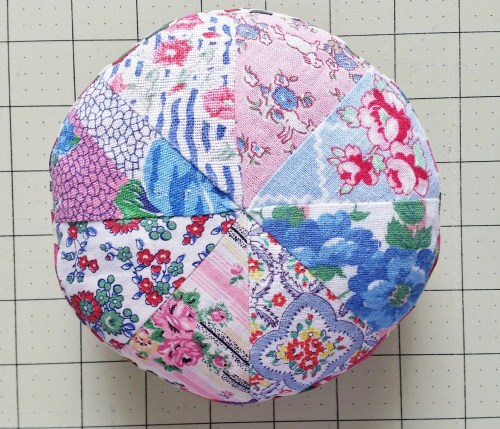 Mad For Fabric - Pincushion Top Before Embroidery Floss