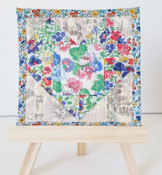 Mad For Fabric Mini Heart Quilt