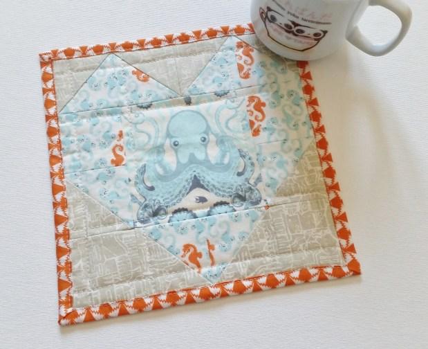 Mad For Fabric - Tula Saltwater Heather Ross Seahorse Mug Rug