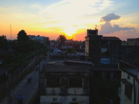 Sunset from my rooftop in Birganj