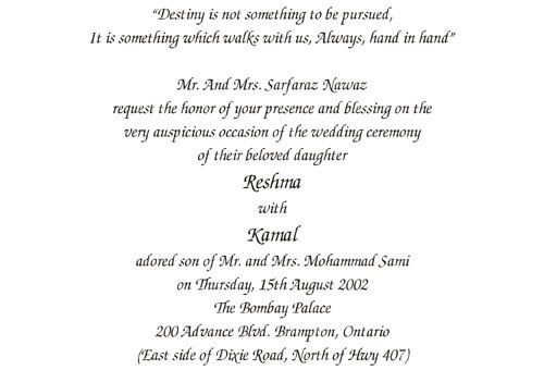 wordings for wedding invitation cards
