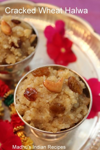 cracked wheat halwa with nuts