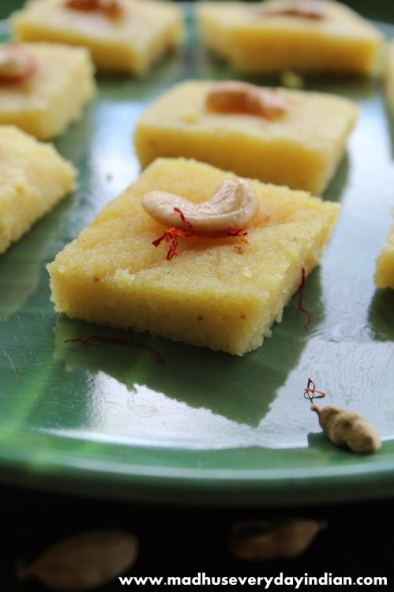 sooji halwa using condensed milk