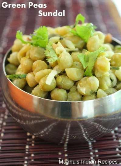 green peas sundal as neivedyam for navratri