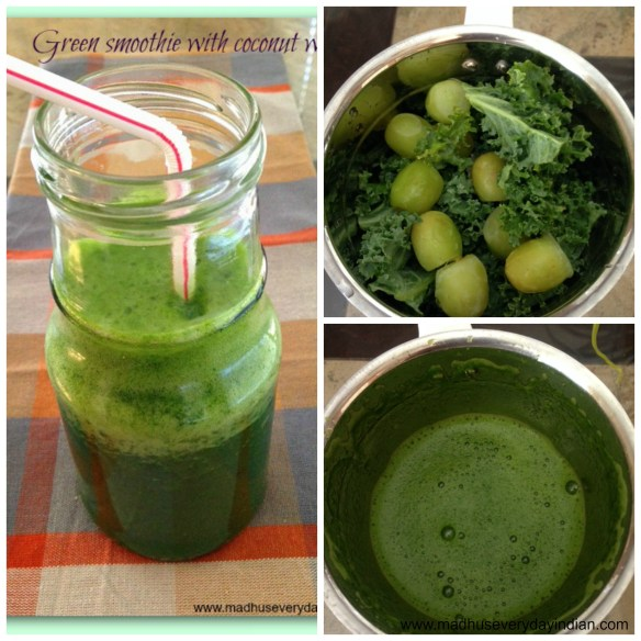 green smoothie collage