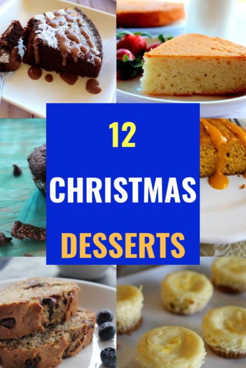 collection of 12 easy christmas desserts