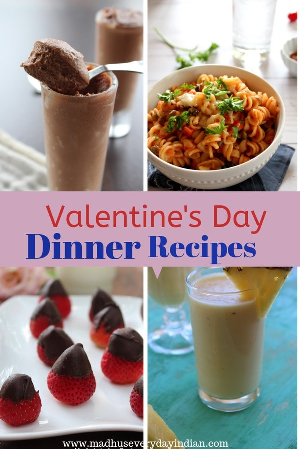 valentines day recipe ideas for dinner, appetizer and dessert