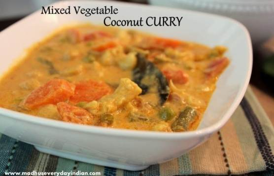 vegetable coconut curry, coconut curry, vegetable curry