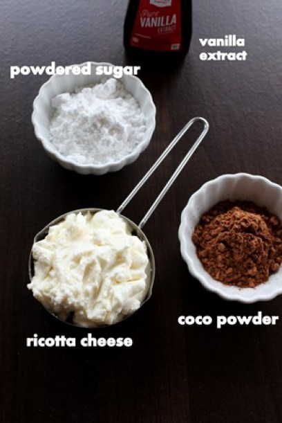 chocolate ricotta mousse ingredients