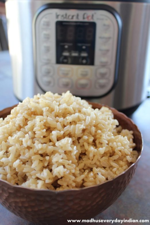 brown rice instant pot