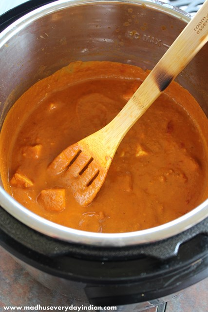 instant pot paneer butter