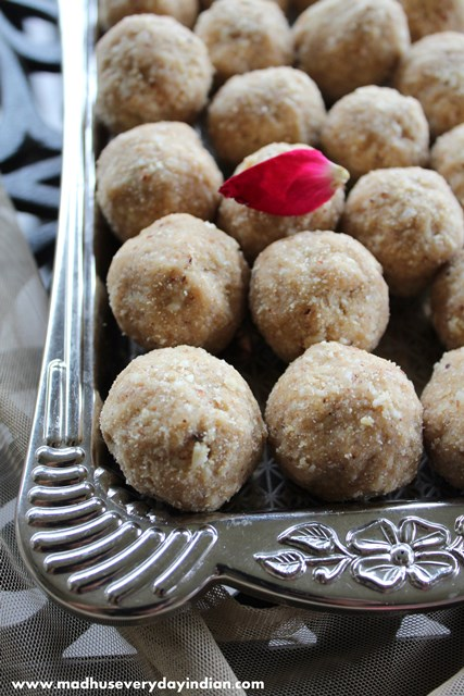 wheat ladoo with nuts