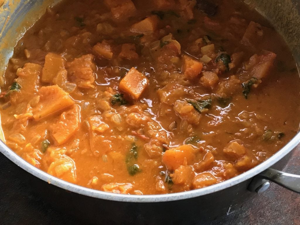 pumpkin curry ready to serve