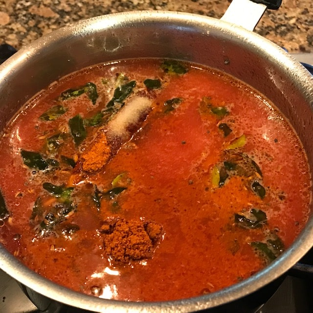 spices added to the rasam