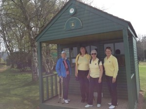 Cheshire County Captain Paula Latham (2nd left) and her support team