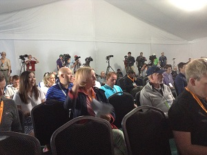 A player's eye view of a press conference