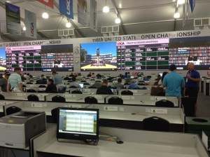 Inside the media centre - 2016 US Open