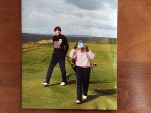 Role reversal - me caddying for Mum