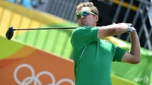Seamus Power in full swing for Ireland at the Olympics.