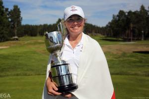 Bronte with the European Amateur Championship trophy.