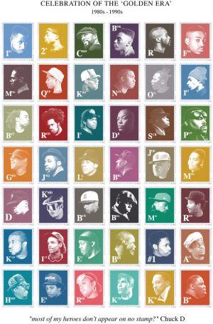 Madina Design - Golden Era Hip-Hop Stamp Collection