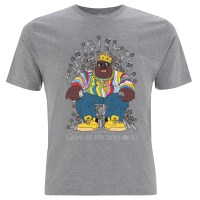 Biggie Game of Microphones Grey TShirt