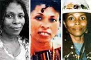 Joanne Deborah Chesimard, alias Assata Shakur, sur des photos non datées fournies par le FBI. (Photos FBI.Reuters)