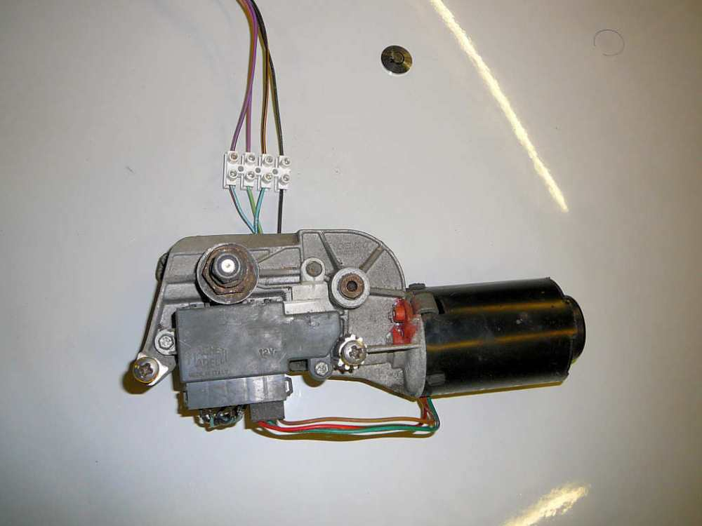 medium resolution of the fiat uno fiorino wiper motor connected to the ford wiring loom