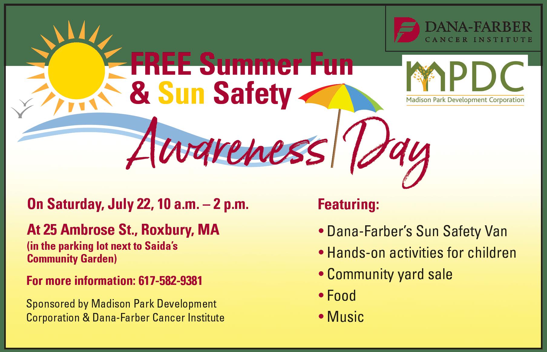 Summer Fun Amp Sun Safety Awareness Day