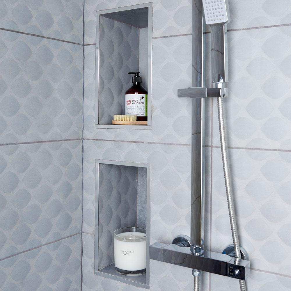 Stainless Steel Shower Niche Insert  Madison Art Center Design